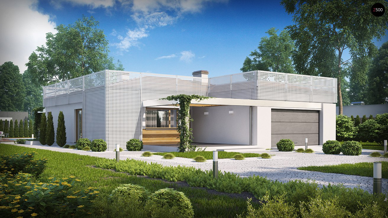 проекты одноэтажных домов хай тек