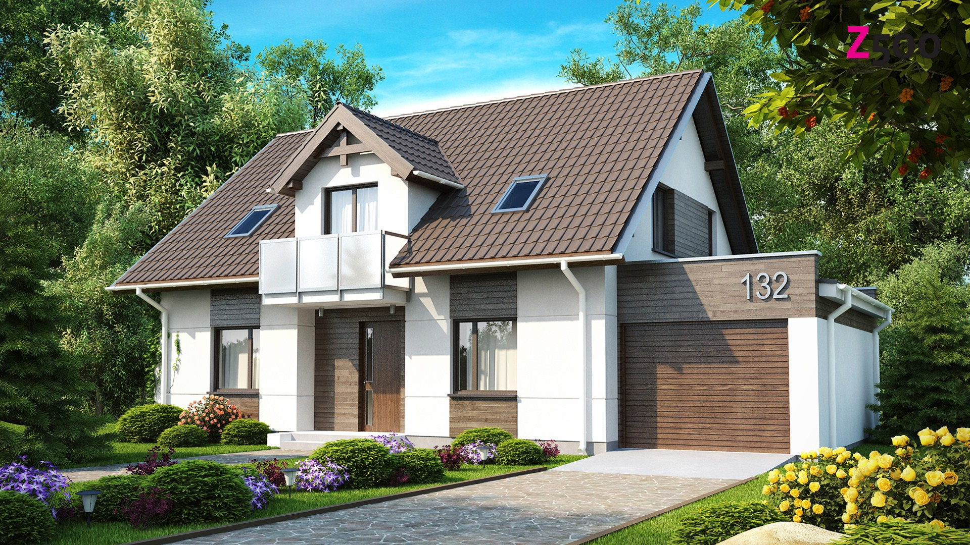 Дизайн домов с гаражом